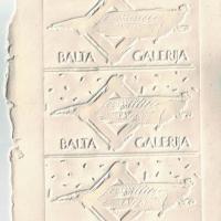 1990_BALTA_galerija_firminis_ženklas_spaudinys_klišės_ant_šlapio_popieriaus._V._Puloko_archyvas.JPG